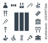 cane icon set. 17 filled cane... | Shutterstock .eps vector #1323597266