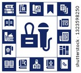 publication icon set. 17 filled ... | Shutterstock .eps vector #1323598250