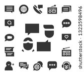 forum icon set. 17 filled forum ... | Shutterstock .eps vector #1323598496