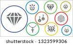 gemstone icon set. 9 filled... | Shutterstock .eps vector #1323599306