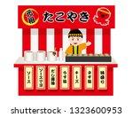 japanese octopus dumpling stall ...   Shutterstock .eps vector #1323600953