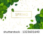 spring background with fresh... | Shutterstock .eps vector #1323601640