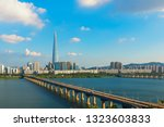 city scape at han river seoul... | Shutterstock . vector #1323603833
