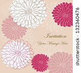 invitation card with floral...   Shutterstock .eps vector #132360476