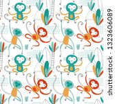 seamless childish pattern with... | Shutterstock .eps vector #1323606089