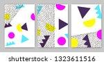 geometric backgrounds. memphis... | Shutterstock .eps vector #1323611516