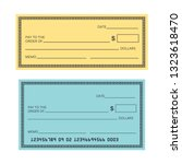 blank check template. check...   Shutterstock .eps vector #1323618470