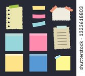 multicolor post it notes... | Shutterstock .eps vector #1323618803