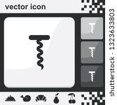 corkscrew flat set of buttons...   Shutterstock .eps vector #1323633803