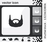 garibaldi beard style. beard...   Shutterstock .eps vector #1323633806