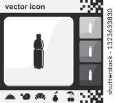 plastic bottle flat set of...   Shutterstock .eps vector #1323633830