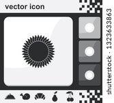 geometric flower or sun flat...   Shutterstock .eps vector #1323633863