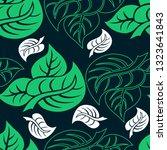 vector seamless floral pattern... | Shutterstock .eps vector #1323641843