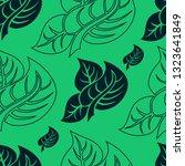 vector seamless floral pattern... | Shutterstock .eps vector #1323641849