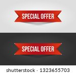 red special offer banner with... | Shutterstock .eps vector #1323655703