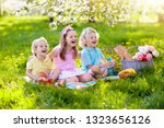 family picnic in spring park...   Shutterstock . vector #1323656126