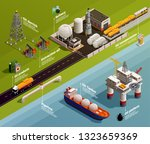 oil petroleum industry... | Shutterstock .eps vector #1323659369