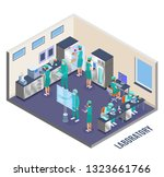microbiology isometric... | Shutterstock .eps vector #1323661766