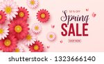 spring sale background with... | Shutterstock .eps vector #1323666140