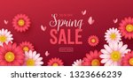 spring sale background with... | Shutterstock .eps vector #1323666239