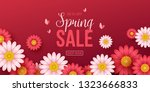 spring sale background with... | Shutterstock .eps vector #1323666833
