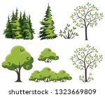 collection of green vector... | Shutterstock .eps vector #1323669809