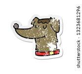 distressed sticker of a cartoon ...   Shutterstock .eps vector #1323681296