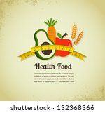 health food and diet background   Shutterstock .eps vector #132368366