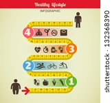 fitness and diet infographic | Shutterstock .eps vector #132368390