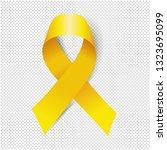 yellow ribbon isolated... | Shutterstock .eps vector #1323695099