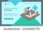 science lab interior landing... | Shutterstock .eps vector #1323696770