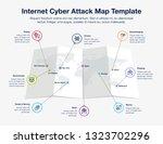 infographic for internet cyber... | Shutterstock .eps vector #1323702296