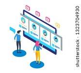 isometric hiring and... | Shutterstock .eps vector #1323704930