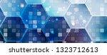 abstract tech background.... | Shutterstock .eps vector #1323712613