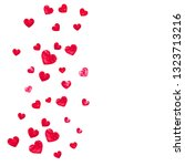 heart border background with... | Shutterstock .eps vector #1323713216