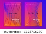 techno event. dynamic gradient... | Shutterstock .eps vector #1323716270
