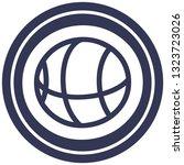 basketball sports icon symbol | Shutterstock .eps vector #1323723026