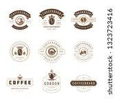 coffee shop logos design... | Shutterstock .eps vector #1323723416