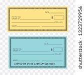 blank check template. check...   Shutterstock .eps vector #1323729956
