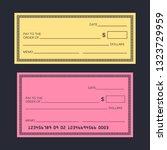 blank check template. check...   Shutterstock .eps vector #1323729959