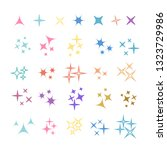 sparkles  glowing light effect... | Shutterstock .eps vector #1323729986