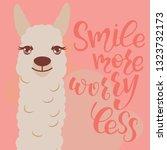 vector alpaca illustration.... | Shutterstock .eps vector #1323732173