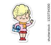 distressed sticker of a cartoon ...   Shutterstock .eps vector #1323734300