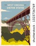 West Virginia Retro Poster. Us...