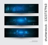 abstract molecules banners set... | Shutterstock .eps vector #1323737963