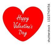 happy valentines day sign...   Shutterstock . vector #1323743456