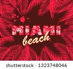 t shirt print with hot pink... | Shutterstock . vector #1323748046
