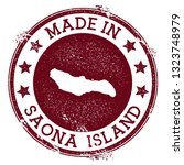 made in saona island stamp....