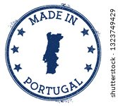 made in portugal stamp. grunge...   Shutterstock .eps vector #1323749429