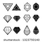 vector set of diamond design... | Shutterstock .eps vector #1323750140